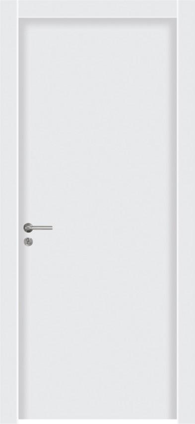 דלת פנים פולימר חלק לבן